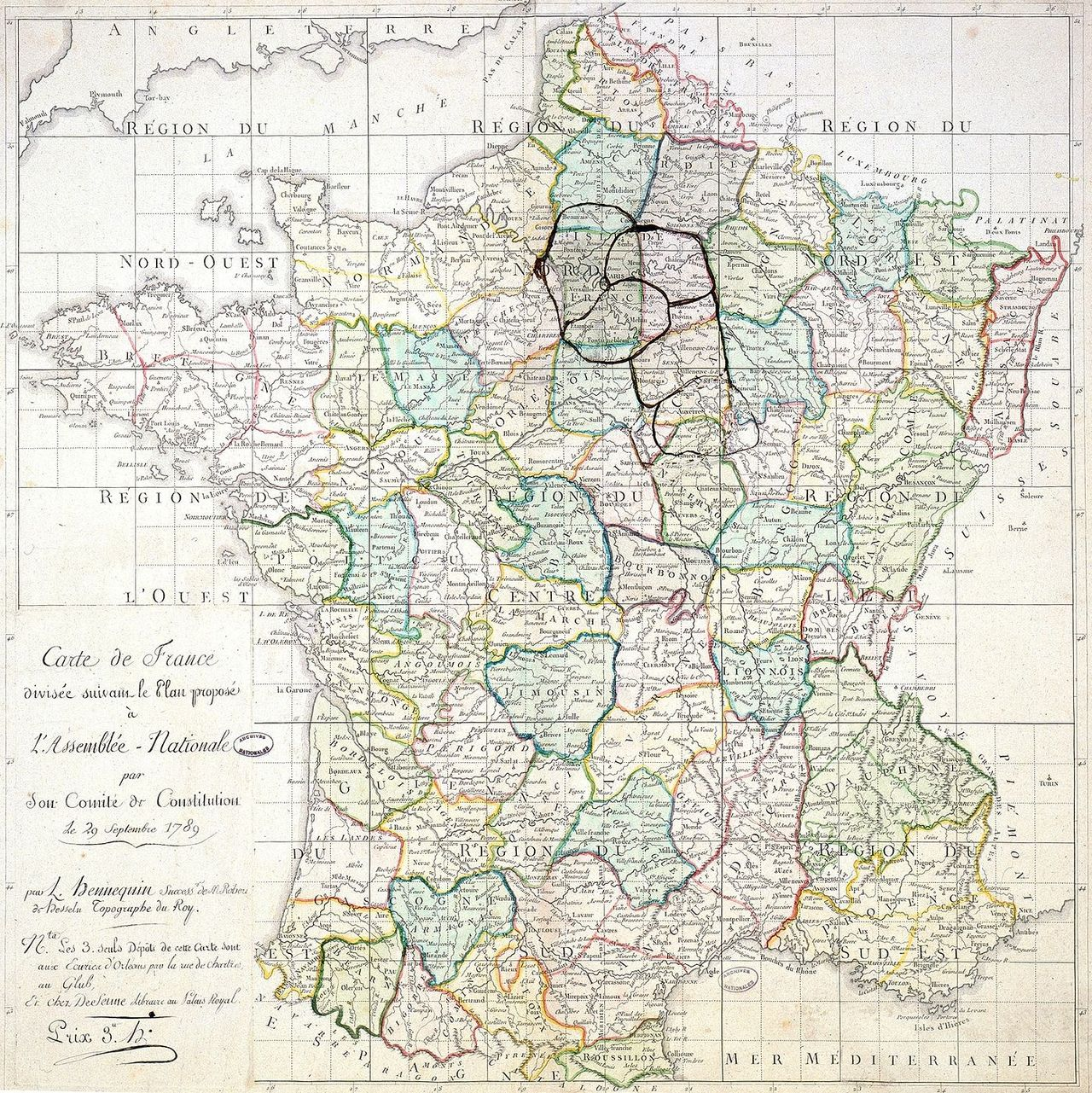 départements 1789 france
